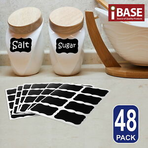 48x-Chalkboard-Blackboard-Chalk-Board-Stickers-Labels-Craft-Jar-Kitchen-Party