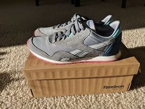 47255992e4b Image is loading Reebok-Classic-Nylon-Slim-HV-Womens-Leather-Sneakers-