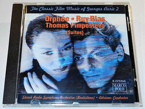 THE-CLASSIC-FILM-MUSIC-OF-GEORGES-AURIC-VOLUME-2-Adriano-ORPHEE-RUY-BLAS-CD-VG