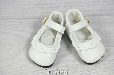 Doll Shoes Snug on Little Darling 47mm WHITE Slip ons for Bitty Bethany