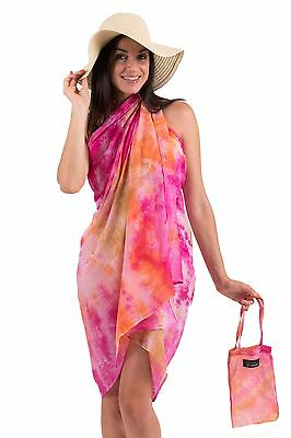 Sarong with Matching Carry Bag | Balinese Sunset | Cotton | Beach Cover-up
