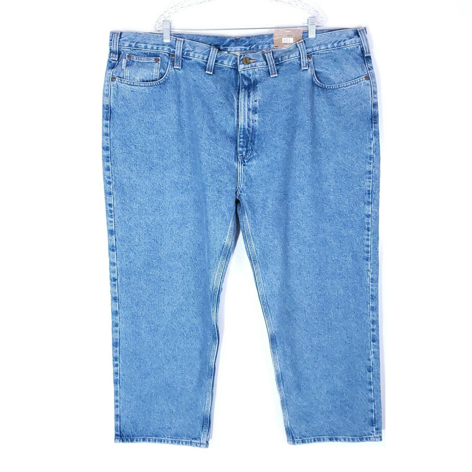 Carhartt Carhartt Men Jeans Cotton Relaxed Fit Straight Leg bluee 50x30 (48x30)