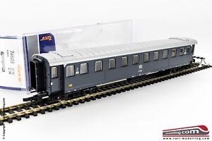 ROCO-74603-H0-1-87-Carrozza-passeggeri-FS-serie-Bz-2-cl-Grigio-Ardesia-Ep