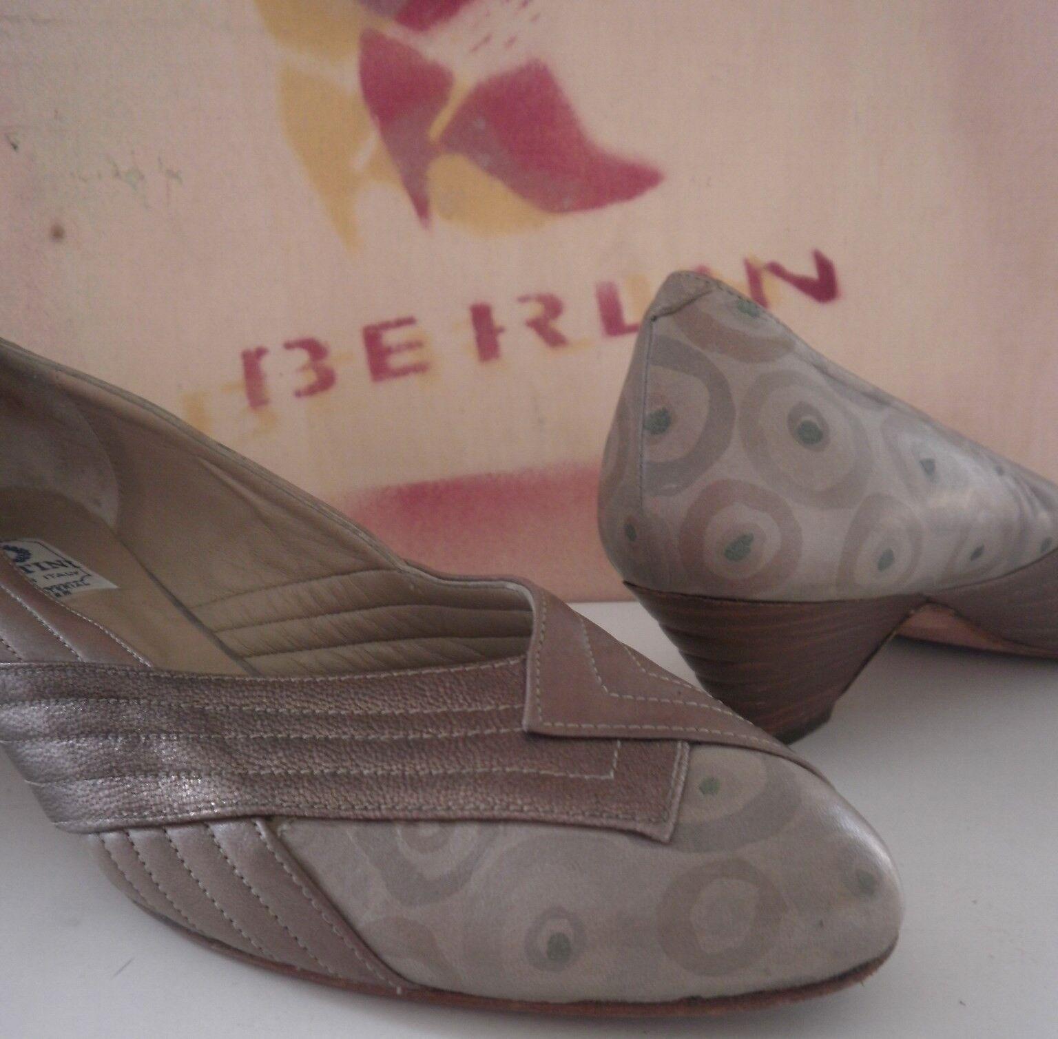 Bi Bi Bi bettini pumps zapatos párrafo plana metalizado made  90er True vintage 90s  te hará satisfecho