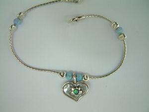 B00771op Shablool Israel Didae Blue Fire Opal 925 Sterling Silver Heart Bracelet éConomisez 50-70%