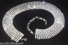 10 Row Solid Crystal Ribbon Belt Made with Swarovski Crystals