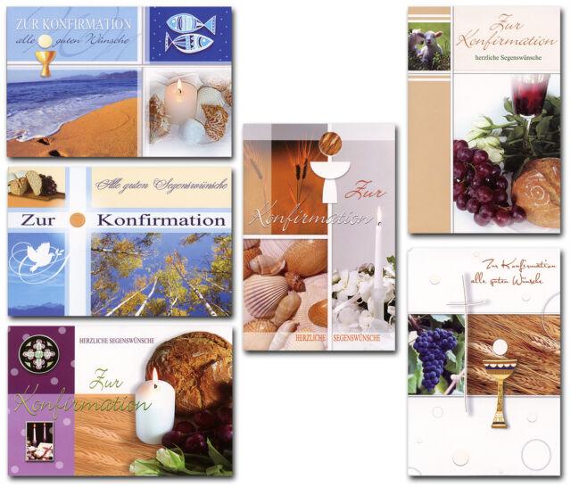 50 Glückwunschkarten zur Konfirmation Grußkarten Klappkarten Umschläge 11-2190