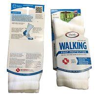 4 Pair Thorlo Women's Walking Socks White Wx11 Medium Usa Casual 9-11 Solids