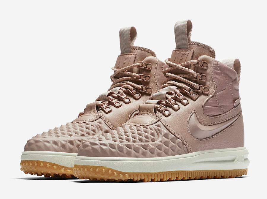 2017 WMNS Nike Lunar Air Force 1 Duckboot SZ 9.5 Particle Pink LF1 AA0283-600