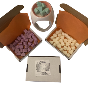 30 x Mini Hearts Highly Scented Plastic Free Long Lasting Wax Tarts Fragrances