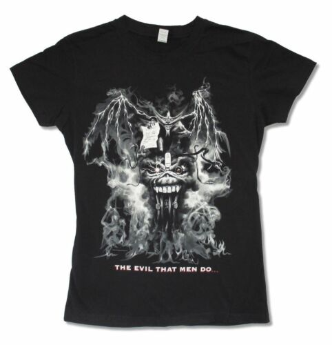 Iron Maiden Deal With Devil NA Tour 2012 Girls Juniors Black Shirt New Official