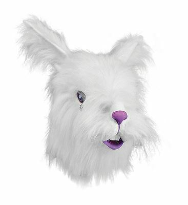Fluffy Lionhead White Rabbit mask Animal Fancy Dress