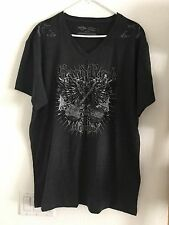HARD ROCK CAFE MEN'S FIT XXL COTTON POLY BLEND CHARCOAL GRAY NWOT T SHIRT NEW
