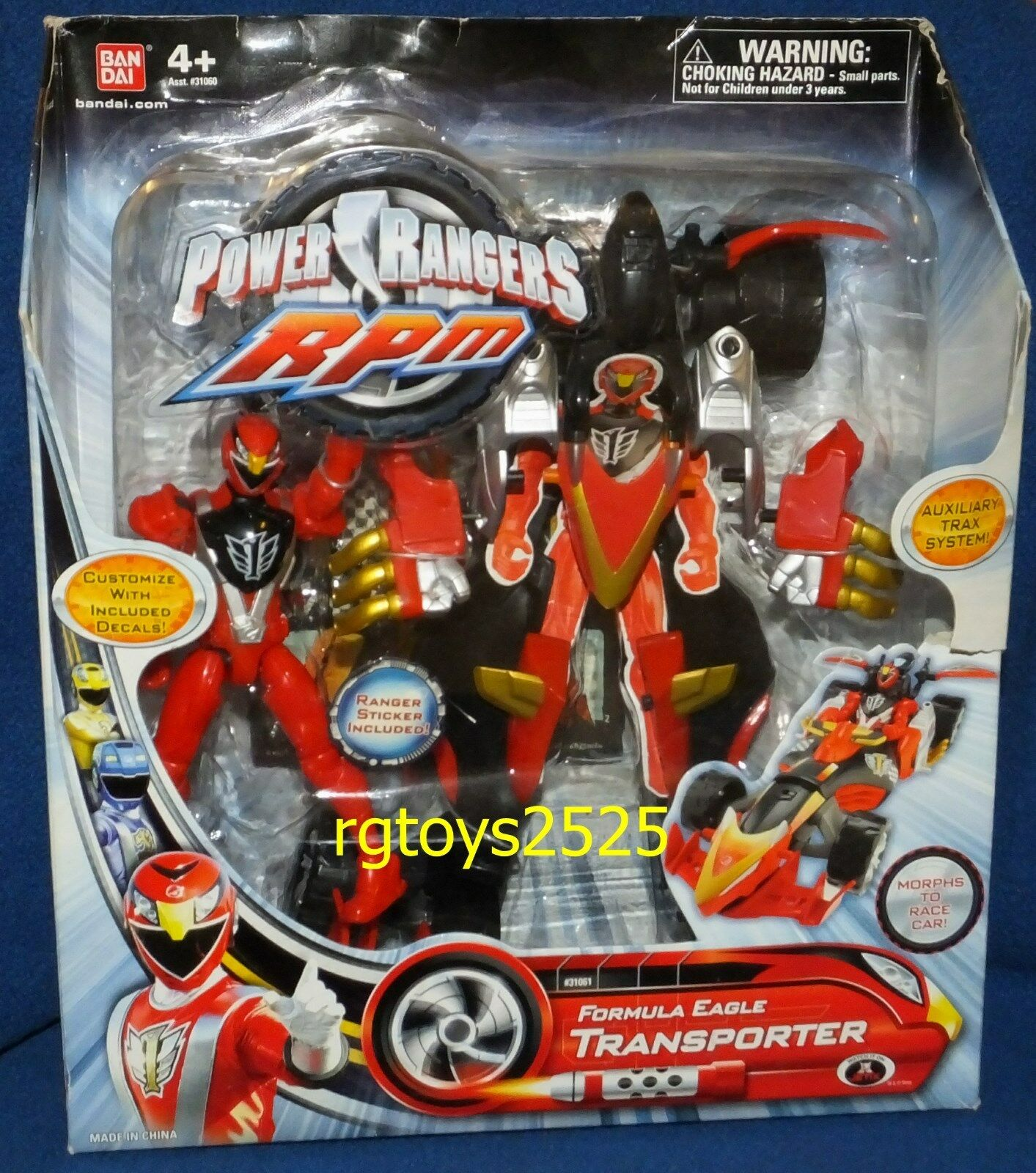 Power Rangers RPM Formula Eagle Transporter w 5