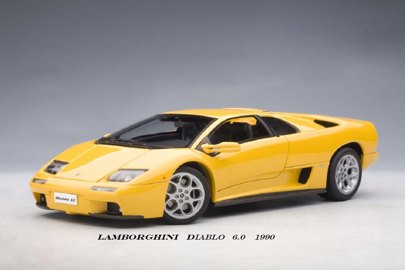 LAMBORGHINI Diablo 6.0 yellow 1990  AutoArt  1 18