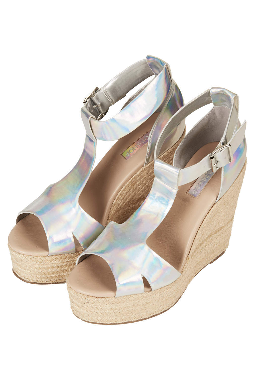 TOPSHOP ( WELL T-bar espadrilles in Silver UK 5 ( TOPSHOP New with box ) a940b3