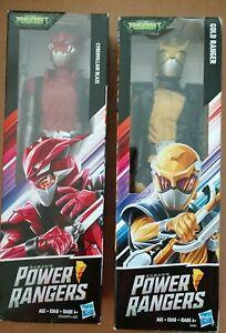 Power Rangers (2) 12-Inch Action Figures - Cybervillain Blaze & Gold Ranger NEW