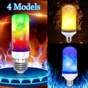 4-Models-E27-B22-3W-LED-Burning-Light-Flicker-Flame-Bulb-Fire-Effect-Lamp-Decor