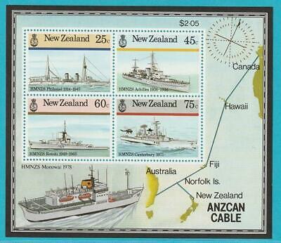Neuseeland Aus 1985 ** Postfrisch Block 7 Marineschiffe Elegant Und Anmutig