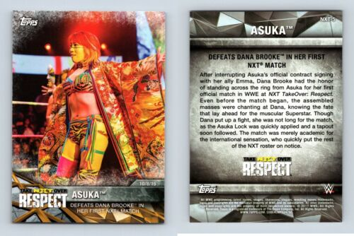 Asuka #NXT-5 WWE Womens Division NXT Matches /& Moments 2017 Topps Card