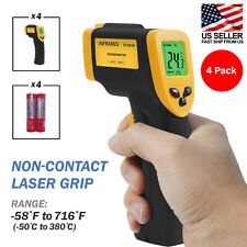 4 Pack Infrared Thermometer Non Contact Digital Laser Gun 50 380