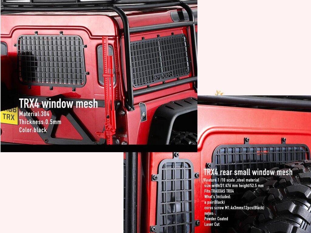 Side + rear window mesh fence guard 5pcs FOR 1/10 TRAXXAS TRX4 TRX-4 Land Rover