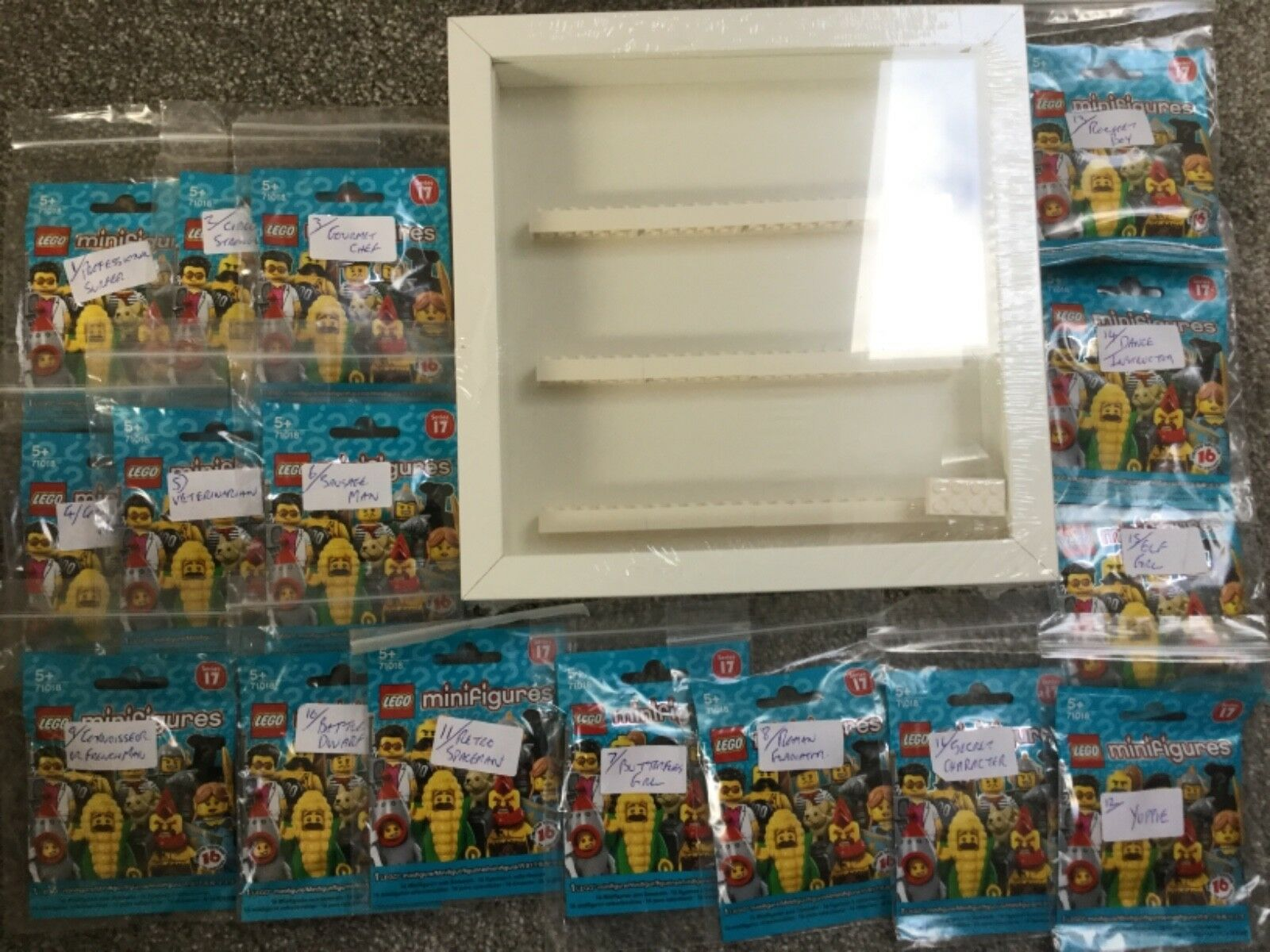 LEGO MINIFIGURES 71018 FULL SET WITH DISPLAY CASE NEW  GOOD CONDITION