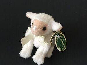 "Bearington Lamb Mini Plush Stuffed Animal White Fleece 3635 Jointed  4.5"" H"
