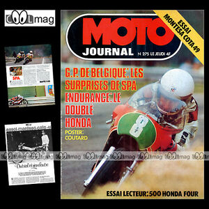 MOTO-JOURNAL-N-275-HONDA-CB-500-FOUR-MONTESA-COTA-49-GRAND-PRIX-SPA-1976