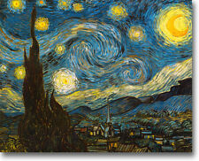 "VAN GOGH STARRY NIGHT CANVAS GICLEE SAMPLE ART PRINT REPRO 10"" x 8"""