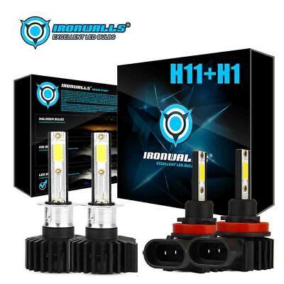 2x H4 9003 HB2 P43T LED Motorcycle Hi-Lo Beam Bulb Headlight Lamp 2200W 330000LM