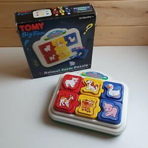 Vintage-Tomy-Big-Fun-Animal-Farm-Puzzle-Retro-Animal-Shape-Sorter-Sound-Puzzle