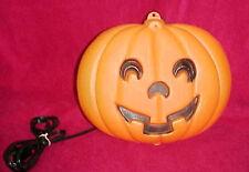 Vtg Halloween Blow Mold Jack O Lantern Pumpkin Blowmold Window Hanging Lighted