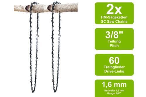 2 Sägeketten passend für Stihl MS462 C-M40cm 3//8 60TG 1,6mm