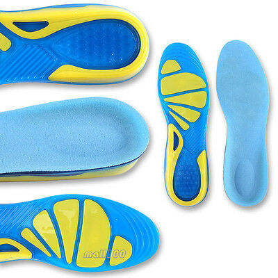 Massaging Silicon Gel Insoles for women men gel sport shoes insoles US5~US12