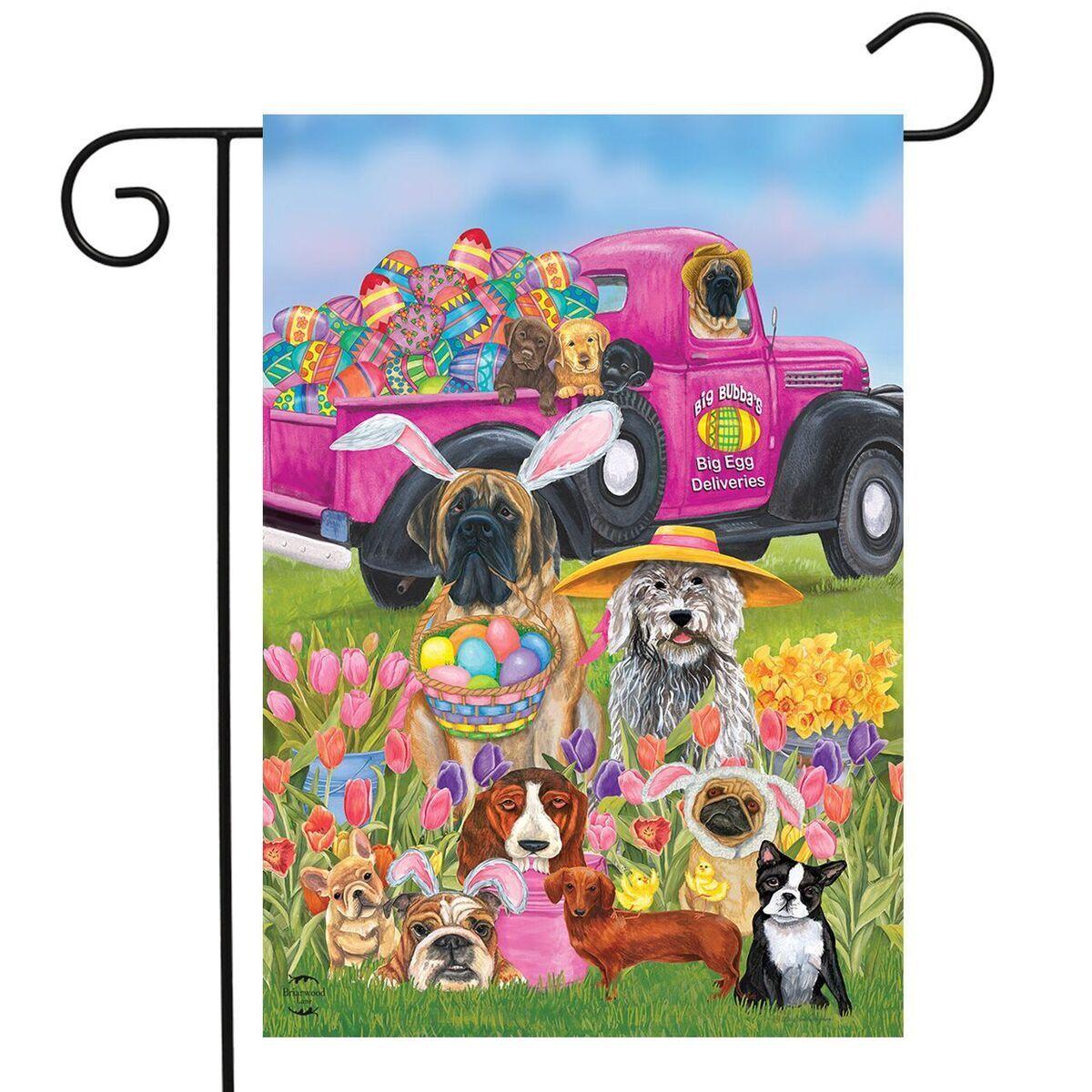 "Easter Greetings Garden Flag Bunny Holiday 12.5/"" x 18/"" Briarwood Lane"