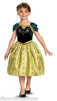 LICENSED DISNEY'S FROZEN ANNA CORONATION GOWN GIRLS COSTUME SIZE SMALL 4-6