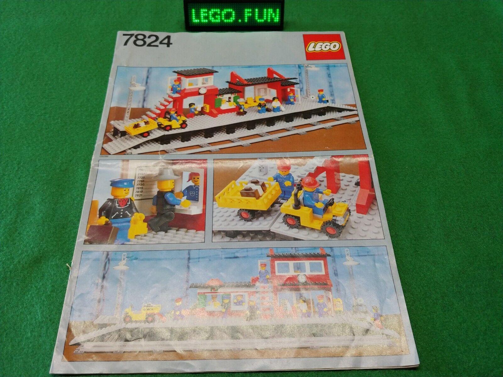 LEGO ® 7824 STAZIONE  + OBA Railway Station + instruction Ferrovia Train 12v 4,5v  nuova esclusiva di fascia alta