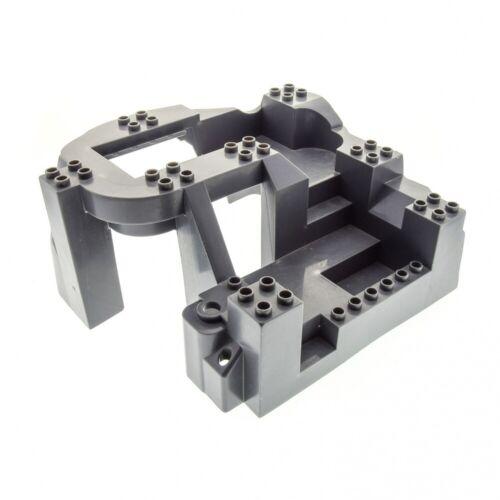 1 x Lego Duplo 3D Bau Platte B-Ware abgenutzt neu-dunkel grau 14x16x8 großer Fel