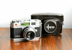 PETRI-2-8-Orikkor-35mm-Leica-Style-Rangefinder-Camera-w-Case-Japan-Ma