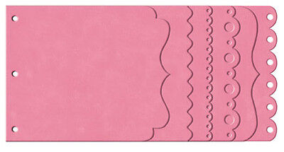 Bo Bunny BLUSH PINK Cascading Chipboard Edgy Album Scrapbooking Paper Crafts