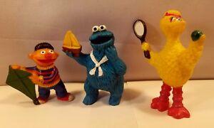 Details About Sesame Street Ernie Cookie Monster Big Bird Vintage Tara Toys Figures Characters