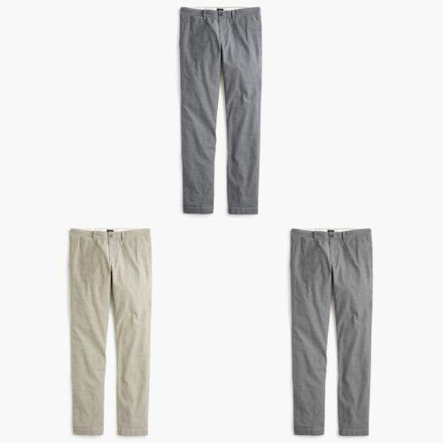 J.Crew 484 Slim-Fit Pants Mens Stretch Chambray Slacks Flat Front Slim Trousers