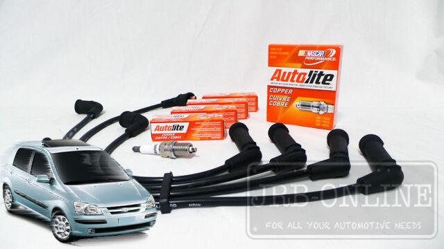 Hyundai Getz TB G4EA 1.3 L DOHC Spark Plugs & Ignition Leads SERVICE KIT