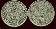 MAROC MOROCCO 10 francs 1366 - 1946 ( ca )
