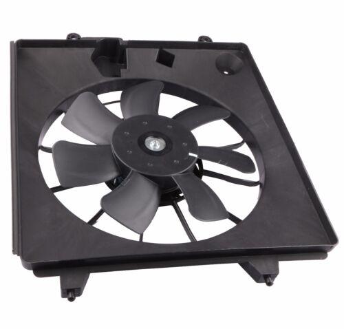 1x Black AC Condenser Radiator Cooling Fan Assembly For 07-09 Honda CR-V 2.4L