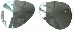 Lenses de Mirror 8307 Sole Silver Silver Verres 55 Ray Mirror remplacement Ban 37 H6zqaz