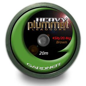 Gardner Heavy Plummet Leadcore BROWN 45lb 20m Carp fishing tackle