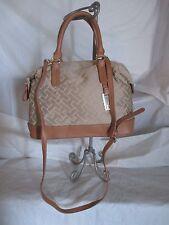 New Handbag Tommy Hilfiger Purse CV Bowler Color Beige Brown Style 6928686 235