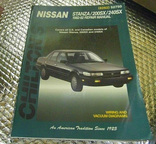 52750 Chilton Repair Manual Nissan Stanza 200sx 240sx 1982
